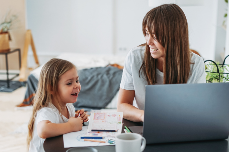 Woman and child - IRS Taxes